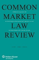 Article on Judicial Appointments published in Common Market Law Review.