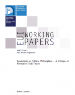 Economists as Political Philosophers: A Critique of Normative Trade Theory.